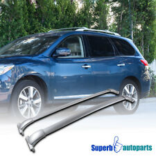 For 13-17 Pathfinder Silver Aluminum Luggage Carrier Roof Top Rack Cross Bar 2PC