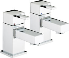 Bristan Quadrato Bath Taps with Ceramic Disc Valves Chrome Plated QD 3/4 C