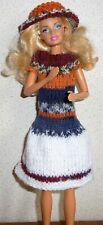 vêtements pour barbie robe capeline  NEUF ARTISANAL