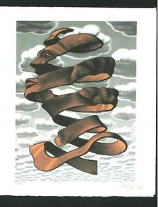 MAURITIUS ESCHER - color lithograph - Hand signed in pencil