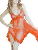 New Tartan Sheer Slip & Thong UK 14 Sheer Nightdress Nighty Camisole Sexy