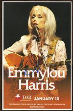 Emmylou Harris autographed gig poster