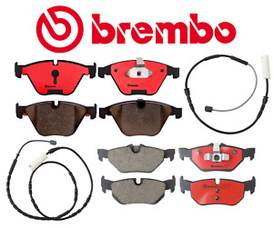Front Brake Pads & Rear Brake Pads Set Ceramic Brembo + Sensor BMW 328i xDrive