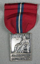 Harvard Class Of 1913 25th Reunion Medal With Ribbon #125