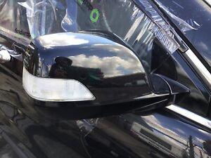 HONDA CRV MK3 DRIVER SIDE POWER FOLD WING MIRROR IN BLACK NH731P