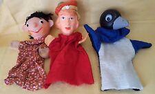 3 x DDR Ostalgie Handpuppen Fingerpuppen Kasperpuppen Spielzeug Theater Puppen
