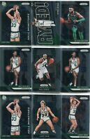 LOT (13) 2018-19 PRIZM BOSTON CELTICS LARRY BIRD JAYLEN BROWN BASKETBALL - 5287