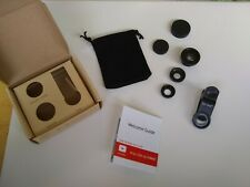 GETIHU Universal 3in1 Wide Angle Macro Fisheye Lens Camera Mobile Phone Lenses
