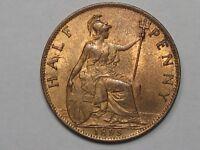 BU 1895 Great Britain Half Penny.  #29
