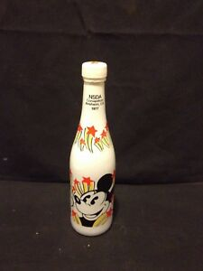 1977 NSDA CONVENTION ANAHEIM CA DISNEY EMPTY SODA BOTTLE MICKEY GOOFY DONALD
