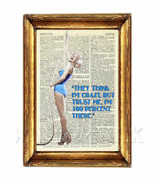 MARILYN MONROE DICTIONARY ART PHOTO PRINT POSTER QUOTE PICTURE ICON WALL ART