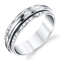 925 Sterling Silver Mens Wedding Band Ring Spinner Center #SEVB025