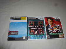 NINTENDO Wii GAME LOT OF 3 ARE YOU SMARTER THAN A 5TH GRADER FAMILY FEUD DECADES