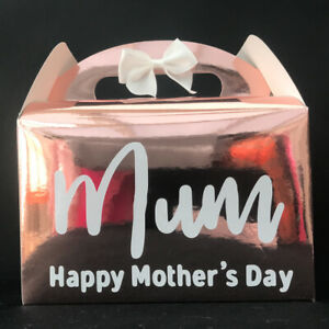 Mother's Day Rose Gold Gift Box, Happy Mother's Day Present,Nanny, Thank you Mum