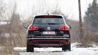 Neuf D'Origine VW Touareg Pare-Chocs Arrière Insert Housse Satin Noir