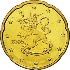 Monnaie 20 centimes cent cts euro Finlande 2005, neuves du rouleau, UNC