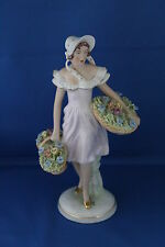 LARGE GENUINE CERAMIC ART DECO ROYAL DUX FIGURE OF A FLOWER SELLER 1919-1939