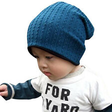 Fashion Baby Beanie Hat Cap Warm Beanies Baby Kids Bonnet Gorros Cotton Hat Blue