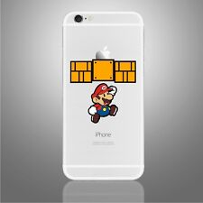 iPhone 6/6s/7/8/X Super Mario jumping decal Nintendo sticker art (NEW)