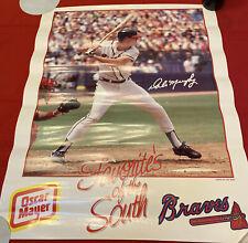 Dale Murphy Vintage Oscar Mayer Poster Atlanta Braves