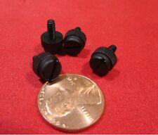 "Nylon Black Plastic Thumb Screw, 4-40 x 1/4"" Length, 21/64"" Head Dia  200 Pc"