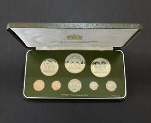 1980 Trinidad and Tobago Proof 8 Coin Set w/ Box (AB-100)