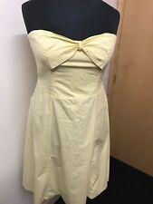 Jasper Conran Jeans Yellow Polka Dot Strapless Sweetheart Dress, Size 14