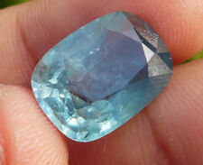 Natural Unheated Untreated Burma Myanmar Blue Green Sapphire Cushion 11.38 cts