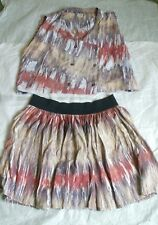 Vintage 1990s Two Piece Short Skirt And Top - Hippy Look - Size UK 12 - 14