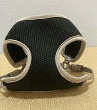 Top Paw Solid Black and Silver Gray Padded Mesh Dog Harness Extra Small EUC