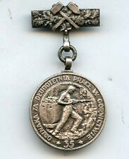 Poland  Polish  Miners 35 Years Long Service   Medal