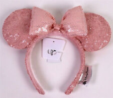 New Disney Parks Millennial Pink Minnie Mouse Bow Sequins Headband Kids Ears