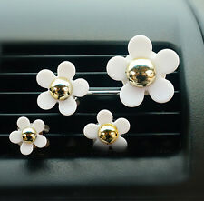 4x New Car Air Vent Flower with Clip Solid Fragrance Perfume Air Freshener