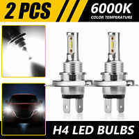 2X H4 9003 HB2 CREE LED Headlight Conversion Kit High/Low Beam White Light Bulbs