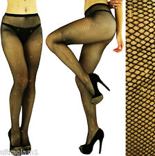 Black - Gold GLITTER FISHNET Seemless PANTYHOSE/TIGHTS/CROSSDRESSER/DRAG QUEEN