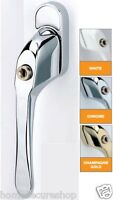 UPVC TILT AND TURN WINDOW HANDLES - WHITE CHROME GOLD
