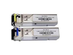 For Cisco New GLC-BX-U20 /GLC-BX-D20 Pair SFP 20KM 1310/1550nm Transceiver
