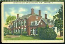 Woodlawn Home of Nellie Custis Near ALEXANDRIA VIRGINIA Vintage Unused Postcard