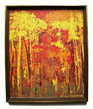RAOUF HANNA - Mid Century Expressionist Oil Painting - Framed - Signed - C. 1960
