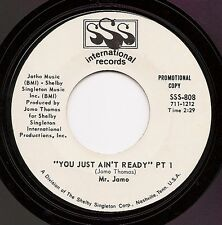 MR. JAMO You Just Ain't Ready  Funk Soul 45 on SSS  NM  wlp  Listen