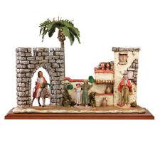 arte religiosa FONTANINI scena vita di cristo - domenica delle palme presepe