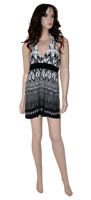 Cream & Black New Look Evening Top/ Dress Size 14 Ladies Party Frock