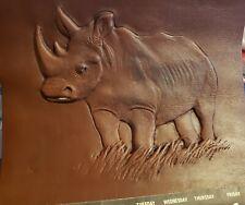 D L Petroleum South African Black Rhino Rhinoceros Embossed Ltd Calendar 1991