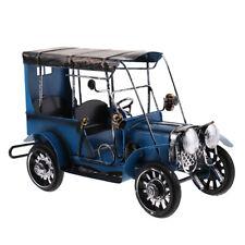 Blue Antique Vintage Car Model Home Decorat Handmade Collectible Vehicle Toy