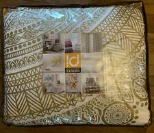 Intelligent Design Nomad Reversible Comforter Set Medallion Full / Queen, Gold