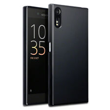 ORIGINALE Sony Xperia XZ Custodia Slim robusto TECH Armour Hybrid TPU GEL NERO OPACO