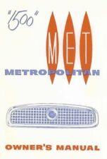 NASH METROPOLITAN 1958-End Owner's Manual