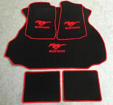 Autoteppich Fußmatten Kofferraum Set für Ford Mustang Coupe rot 1994-04 5tlg Neu