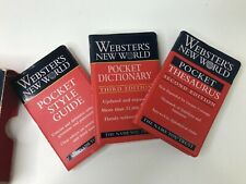 Webster's New World Pocket Desk Set Paperback Webster