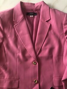 BNWT TAHARI Womens Blazer Jacket Coat Size 18 Peony Pink